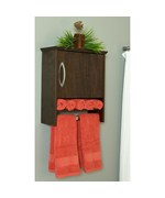 Wall Cabinet with Towel Bar - 7 Inch Deep