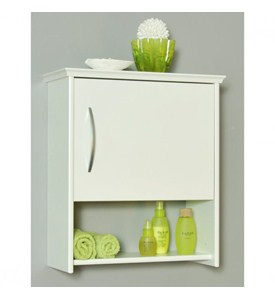 Wall Cabinet with Shelf - 7 Inch Deep Image