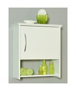 Wall Cabinet with Shelf - 7 Inch Deep