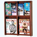 Wall Mount Magazine Rack - 4 Pocket