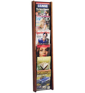 Wall Magazine Rack - 6 Pocket Image