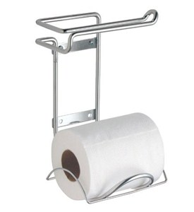 Wall Mount Double Toilet Paper Holder In Toilet Paper Holders