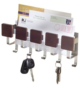 Wall-Mount Mail and Key Rack - Formbu Image