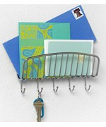 Wall Mount Mail Organizer and Key Rack