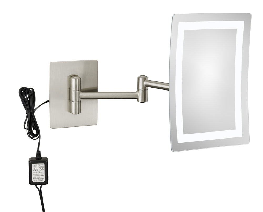Wall mounted makeup mirror 3x in wall mirrors for Wall mounted mirror