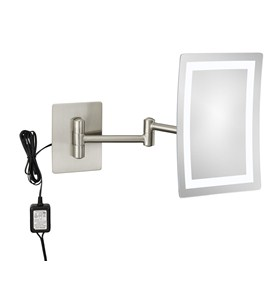 Wall Mounted Makeup Mirror - 3X Image
