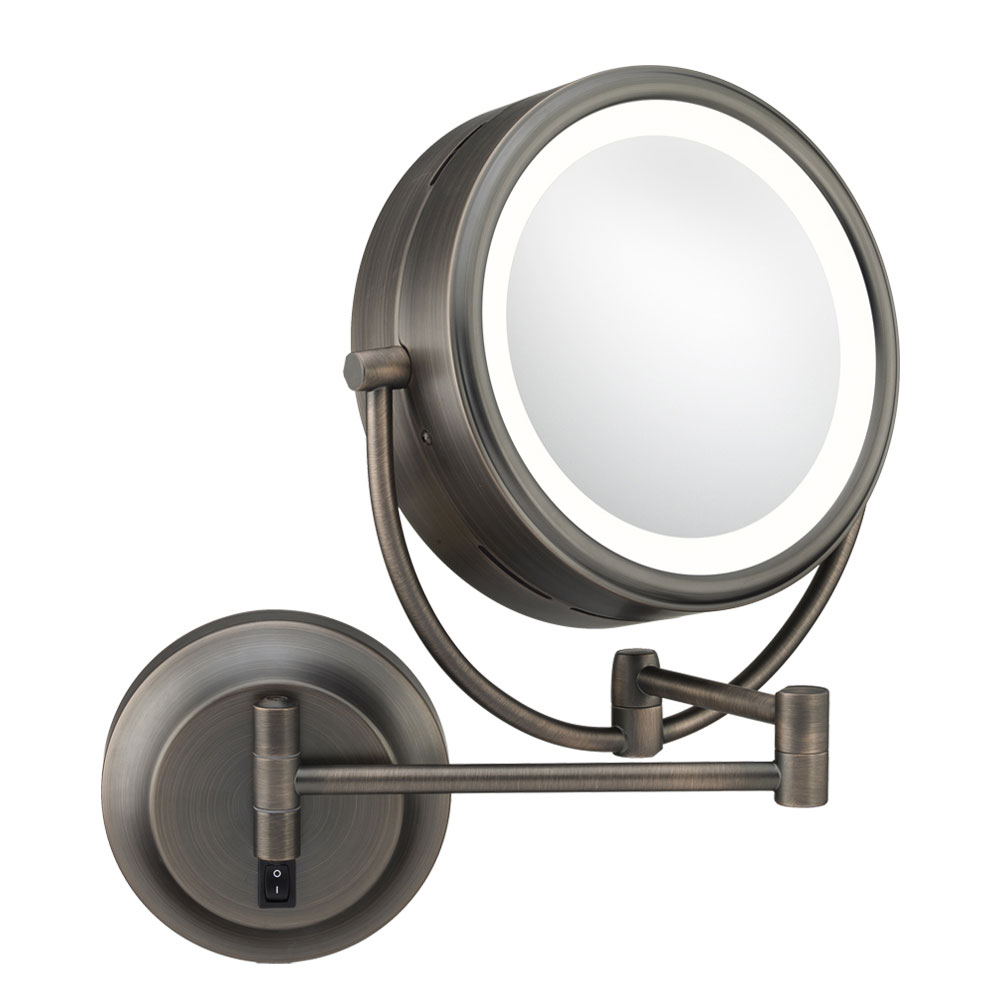 Wall mounted makeup mirror double sided in wall mirrors for Wall mounted mirror
