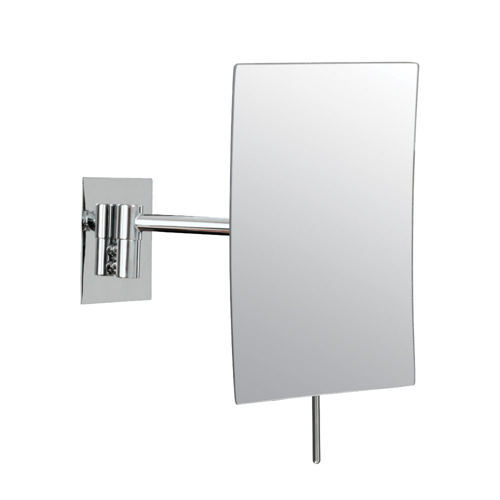 Wall Mount Magnifying Mirror wall mounted makeup mirror - rectangular 3x in wall mirrors