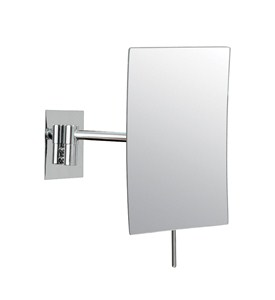 Wall Mounted Makeup Mirror - Rectangular 3X Image