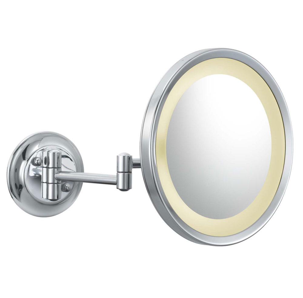 Wall Mounted Makeup Mirror Round 5x In Wall Mirrors