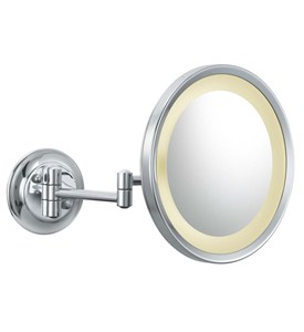 Wall Mounted Makeup Mirror - Round 5X Image