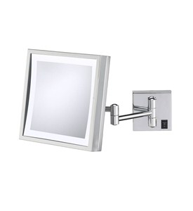 Wall Mounted Makeup Mirror - Square 3X Image