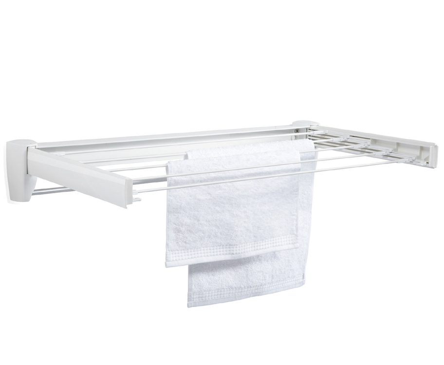 Wall Mount Telescoping Drying Rack In Laundry Drying Racks