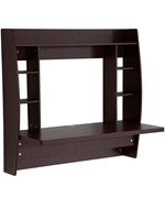 Wall Mounted Desk with Storage - Espresso