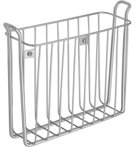Wall-Mounted Magazine Rack - Satin Nickel Image