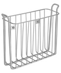 Wall-Mounted Magazine Rack - Satin Nickel