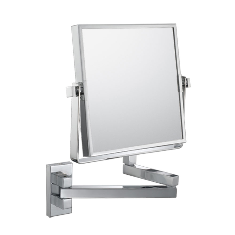 The Double-Sided Square Wall Mounted Makeup Mirror in Wall Mirrors