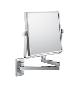 The Double-Sided Square Wall Mounted Makeup Mirror Image