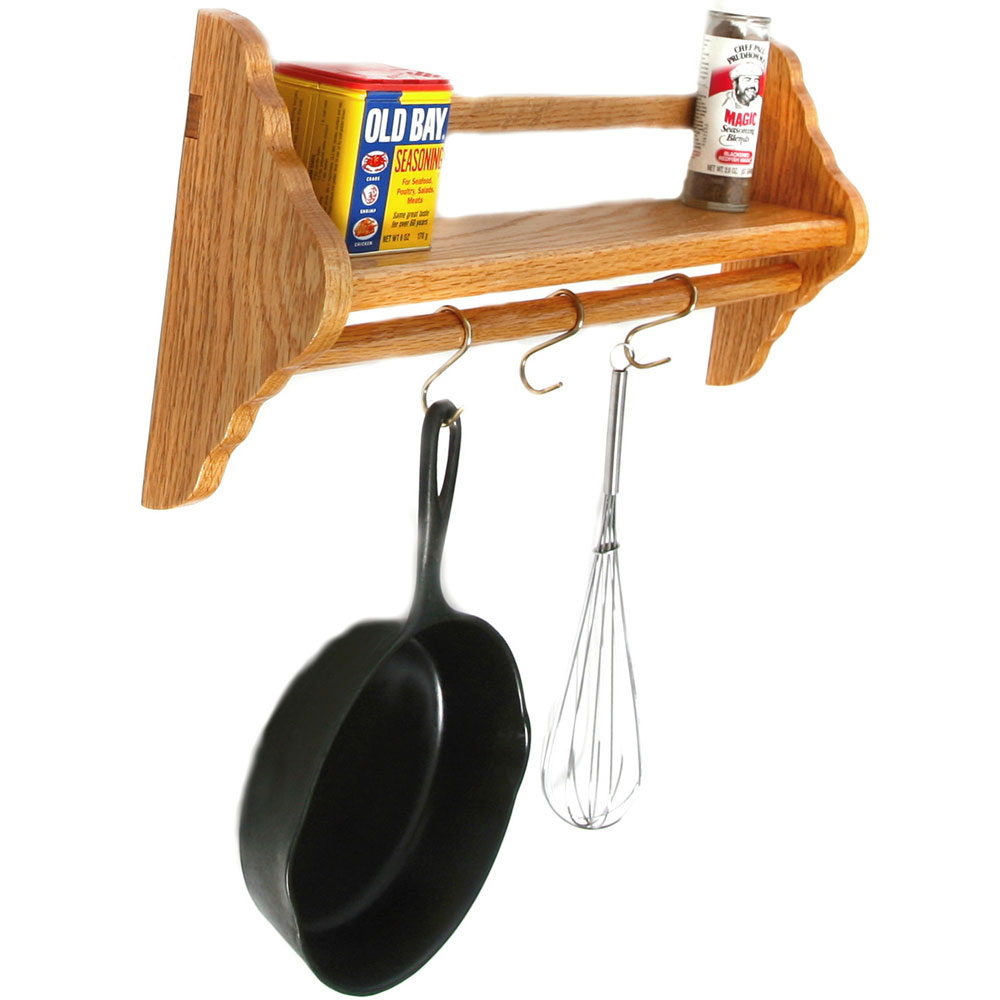 wallmounted pot rack with shelf price
