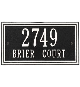 Wall Mounted Standard Address Plaque Image