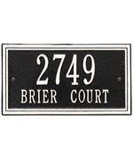 Wall Mounted Standard Address Plaque