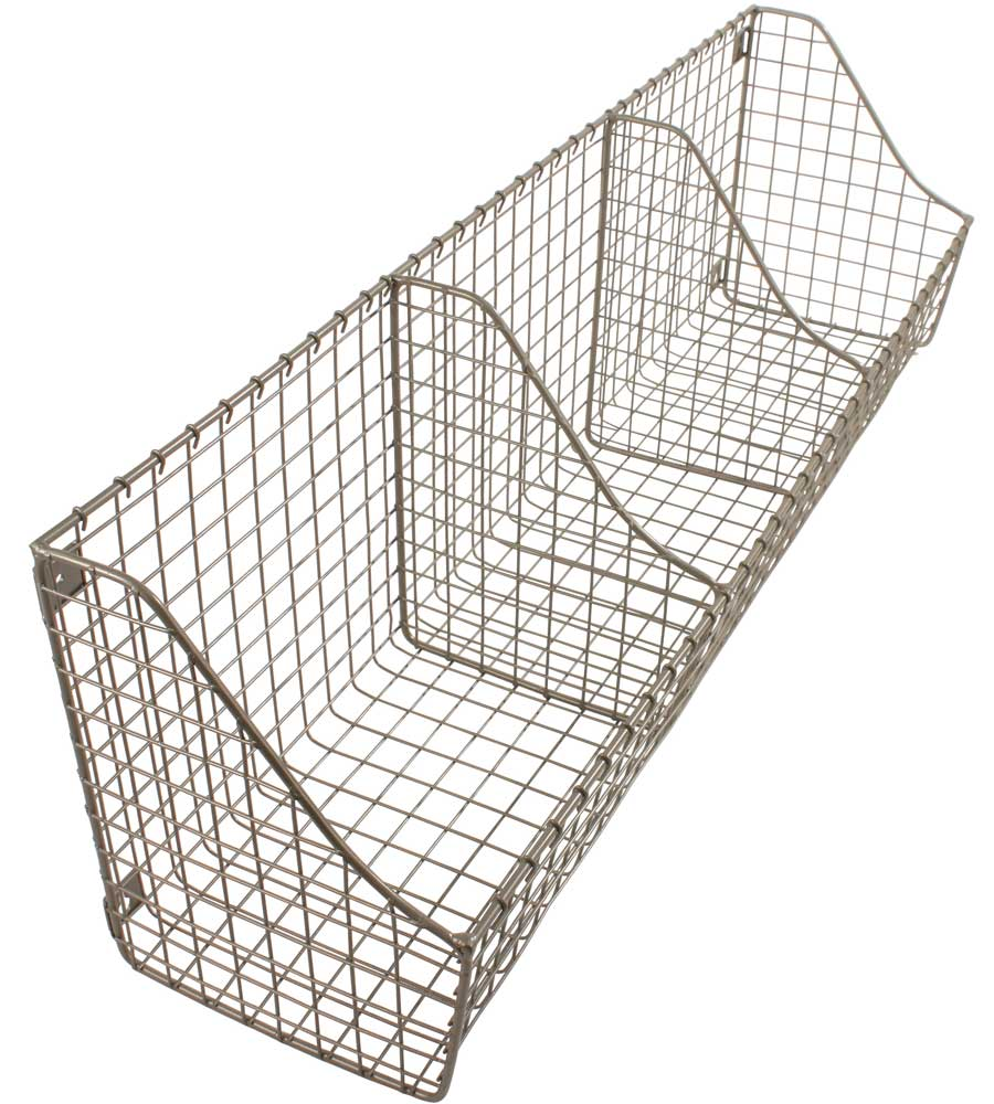 Wall Mounted Storage Basket In Wire Baskets
