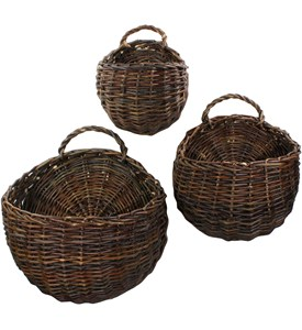 Wall Mounted Storage Baskets (Set of 3) Image