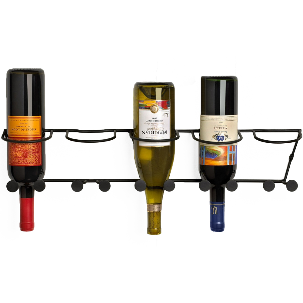 Wall Mounted Wine Bottle Rack In Wine Racks