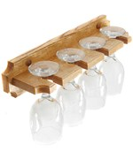 Wall-Mounted Wine Glass Rack