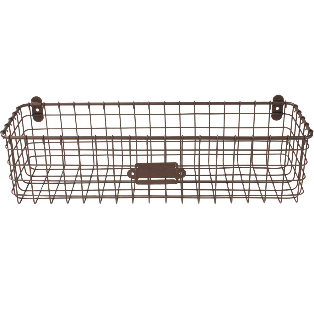 wall mounted wire basket vintage in wire baskets. Black Bedroom Furniture Sets. Home Design Ideas