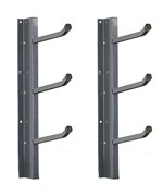 Wall Mount Multi-Hook Garage Storage Rack