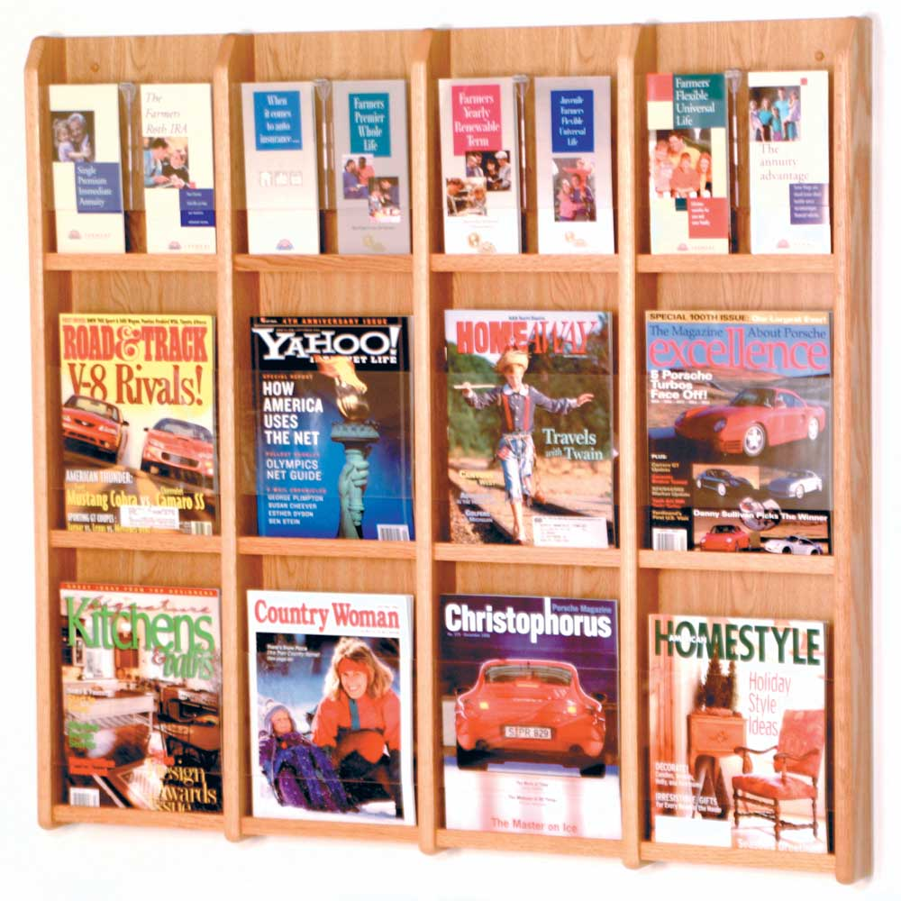 magazine and brochure rack 12 pocket image