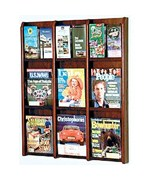 Wall Rack - Holds Nine Magazines or 18 Standard Brochures by Wooden Mallet