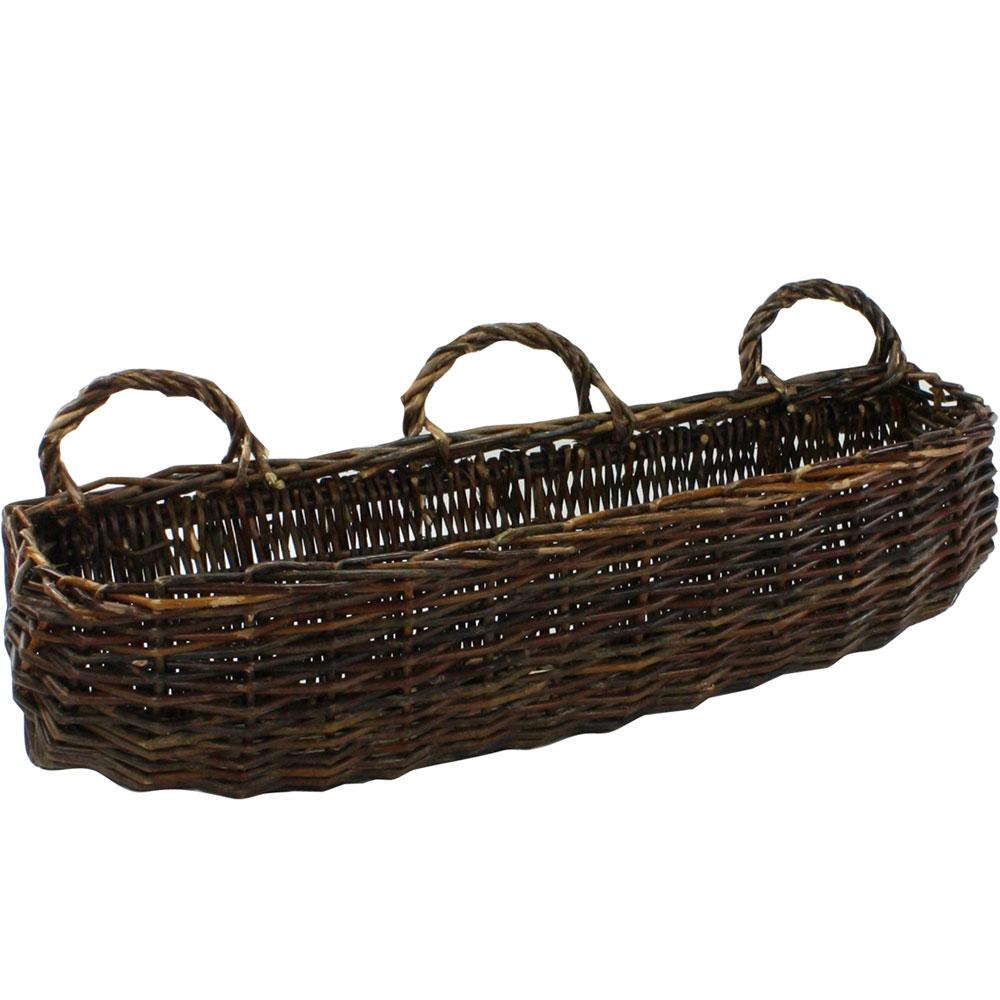 Wall Storage Basket In Wicker Baskets