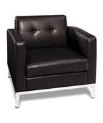 Wall Street Faux Leather Arm Chair by Office Star