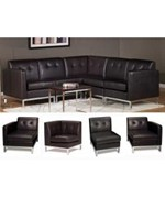 Wall Street Espresso Modular Sofa Chairs by Office Star