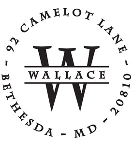 Wallace Personalized Address Stamp Image