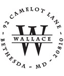 Wallace Personalized Address Stamp