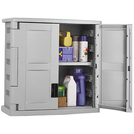 Wall Mount Garage Storage Cabinet   Gray Image