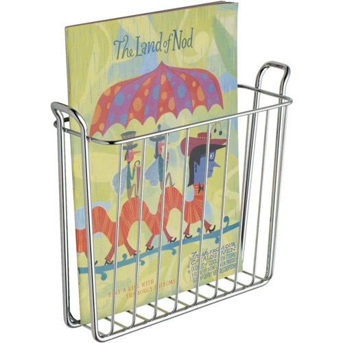Wall Mount Decorative Chrome Magazine Rack Bathroom
