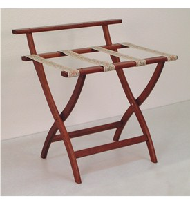 WallSaver Luggage Rack with Tapestry Webbing by Wooden Mallet Image
