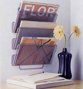 Mesh Wall Magazine and File Rack Image