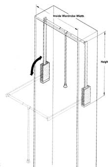 Awesome Closet Rod, Arms And Handle Are Chrome Steel. The Height Listed Is The  Total Height Of The Entire Unit Including The Plastic Housing Is 34 5/8  Inches But ...