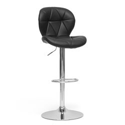 Warsaw Black Modern Bar Stool- Set of 2 by Wholesale Interiors Image