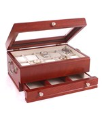 Watch Storage Box with Drawer - Cherry Wood