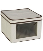 Medium Canvas Vision Clothing Box - Cream