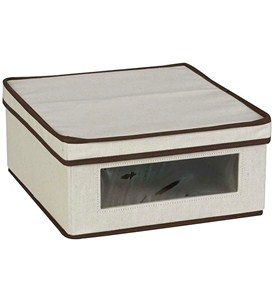 Small Canvas Vision Clothing Box - Cream Image