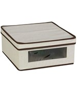 Small Canvas Vision Clothing Box - Cream