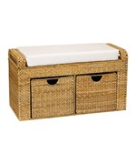 Woven Banana Leaf Storage Bench