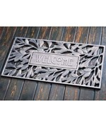 Aluminum Pinecone Welcome Mat - Pewter Silver